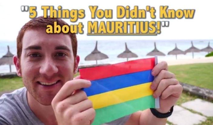 Drew Binsky, le blogueur avec plus de 800 millions de followers est à l'île Maurice