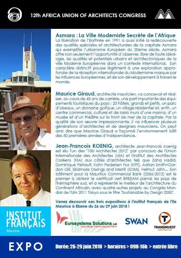 La Mauritius Association of Architects accueillera la 12e édition du congrès annuel des architectes d'Afrique.