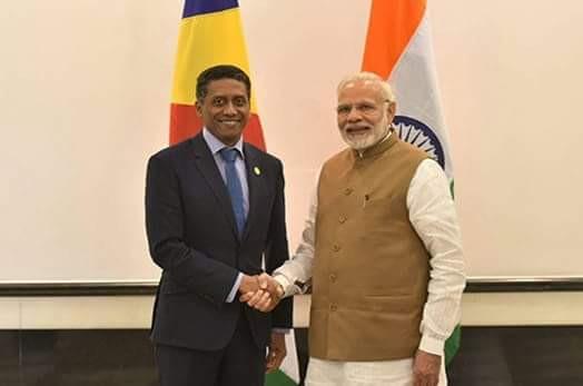Le Président Faure (Seychelles) et Modi