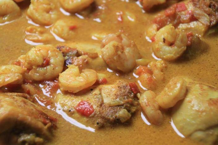 La recette d'Emmanuelle : le cari poulet et crevettes