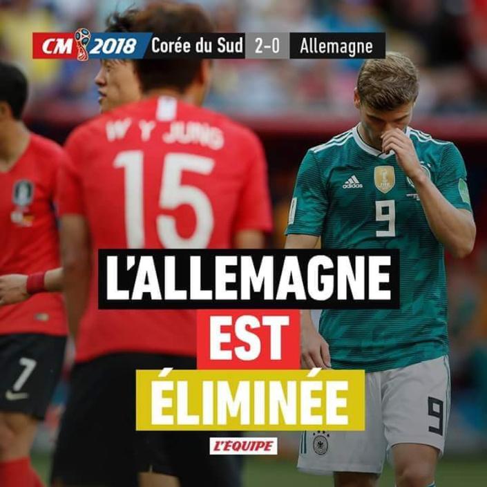 Pour la première fois de son histoire, la Mannschaft est éliminée en phase de poules de la Coupe du monde