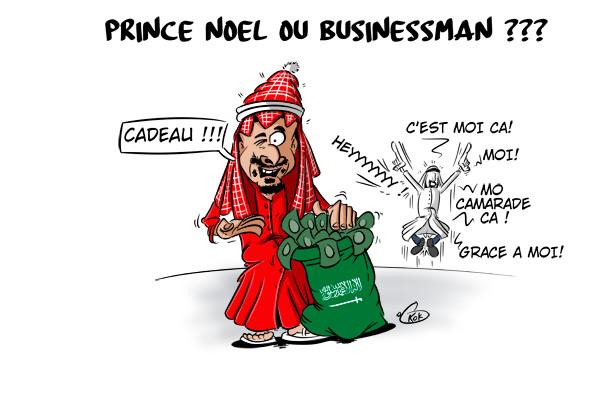 [KOK] Le dessin du jour : Le Prince saoudien en père Noël