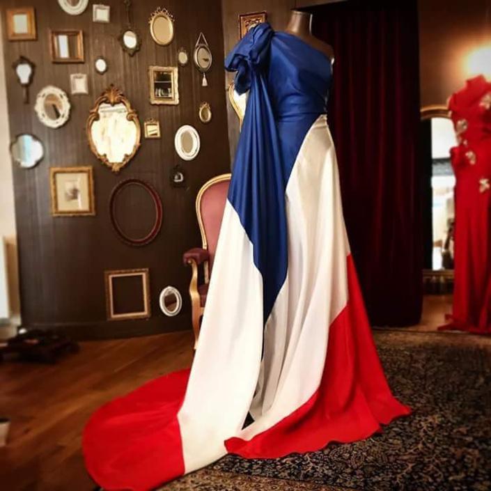 Le créateur de mode mauricien Perry Ah Why fête le 14 juillet !