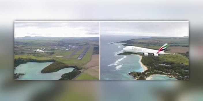[Vidéo] Un drone frôle un A380 d'Emirates à Plaisance
