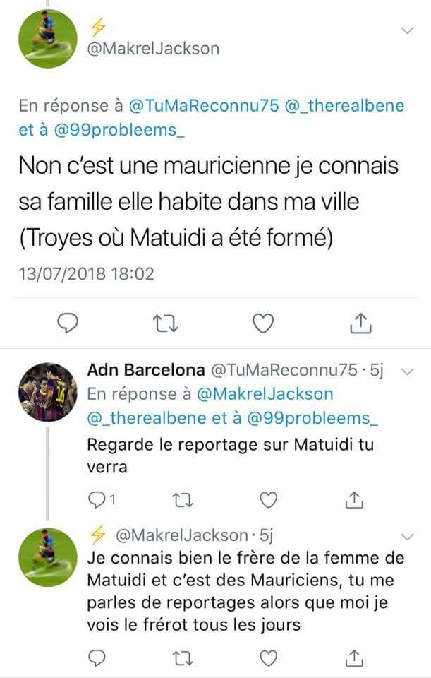 Selon Twitter la femme de Blaise Matuidi serait une Mauricienne