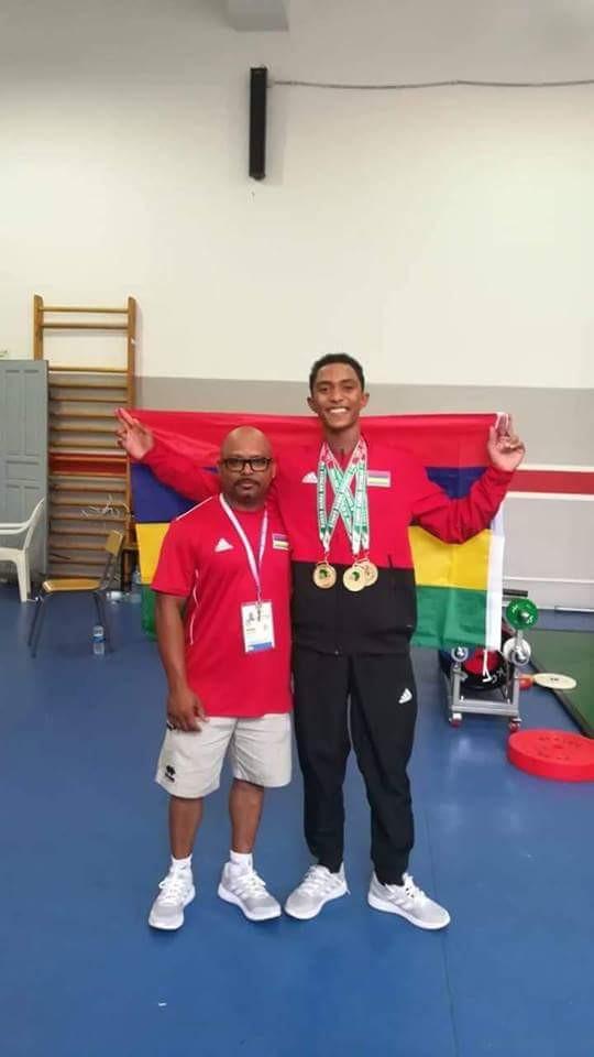 Dorian Madanamootoo et son coach Gino Sooprayen
