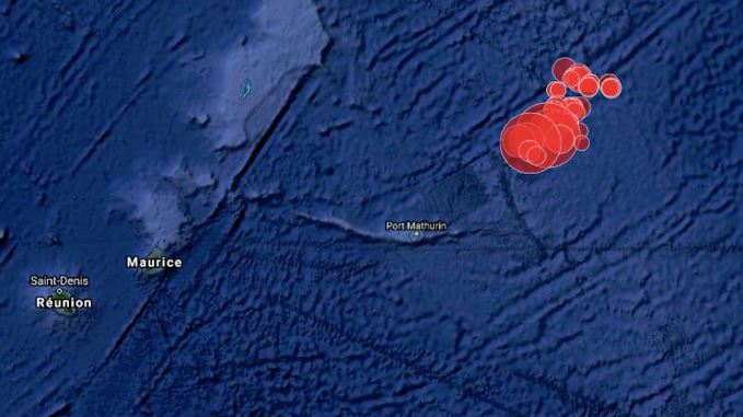 Série de tremblements de terre depuis lundi au nord-est de Maurice