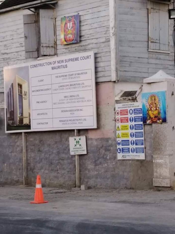 La nouvelle Cour Suprême à Port-Louis