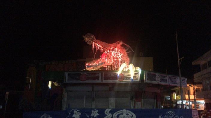 [Chinatown] Acte de vandalisme sur la sculpture en plastique du Dragon Tang Loon