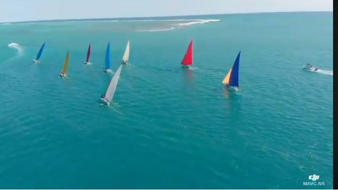 [Drone Vidéo] Départ de la régate ce dimanche à Pointe Koenig, les Salines Rivière Noire