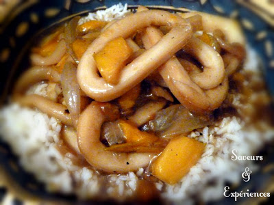 La recette d'Emmanuelle : Calamar en Sauce à la Mauricienne
