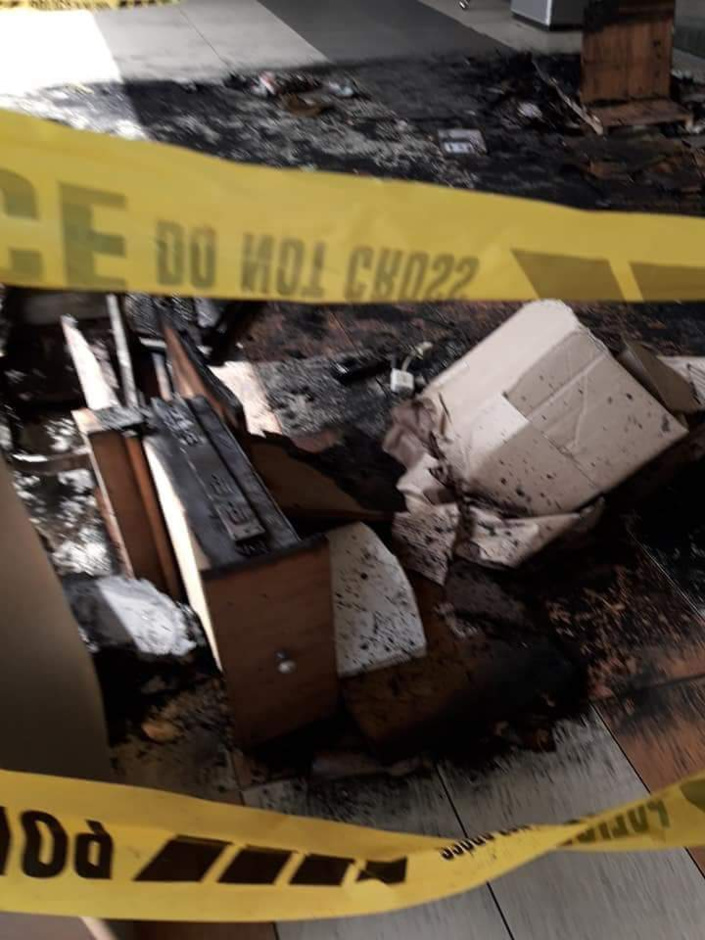 Incendie dans une boutique au centre commercial Kendra à Saint-Pierre