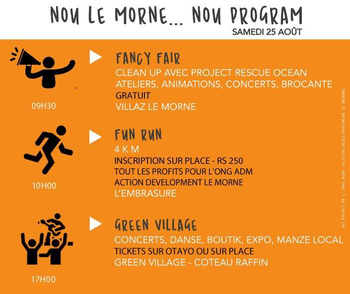 La première édition de Nou Le Morne se tiendra ce samedi 25 août 2018 au… Morne !