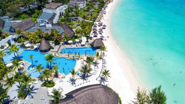 Une photo aérienne de l'hôtel Ambre à Maurice