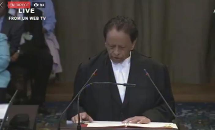 [Direct] Suivez la plaidoirie de sir Aneerood Jugnauth devant la Cour internationale de justice de La Haye