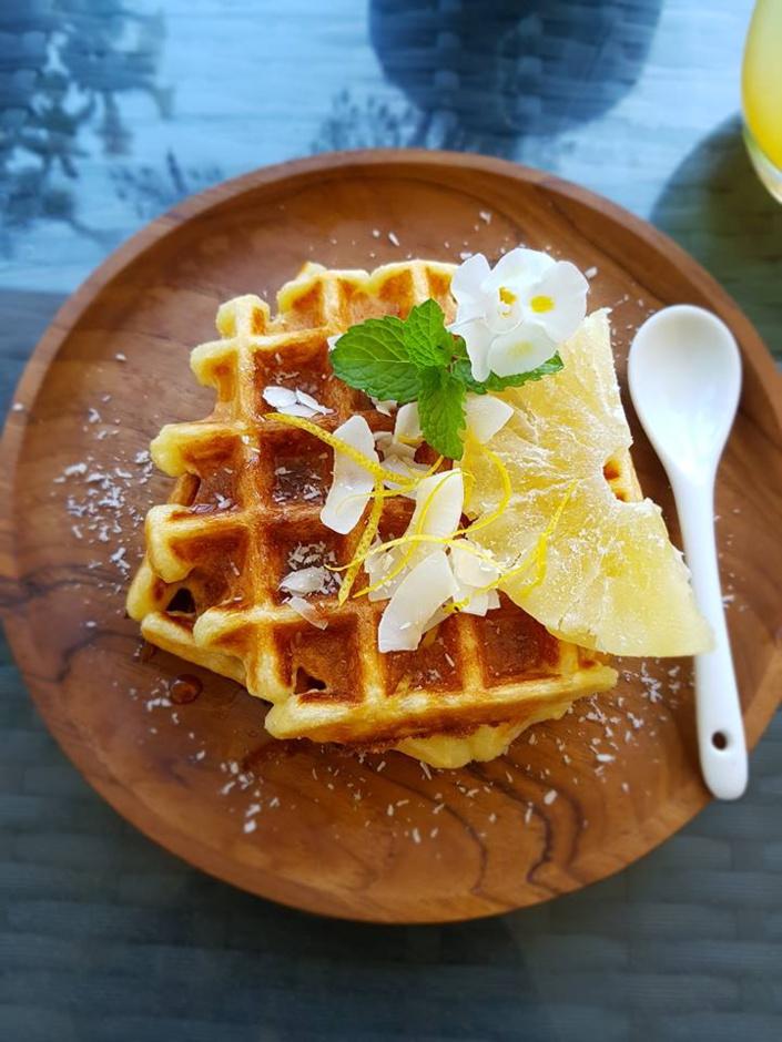 La recette de Emma Healthy Fit : Gaufres Noix de coco / Citron