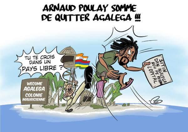 [KOK] Le dessin du jour : Arnaud Poulay sommé de quitter Agaléga