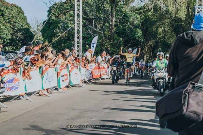 Tour de Maurice 2018-Cyclisme : Le Sud Africain Gustav Basson s'est offert une nouvelle victoire d'étape à Ferney!