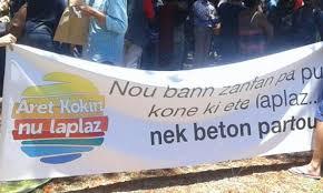 Le collectif Aret Kokin Nu Laplaz a porté plainte au tribunal de l'Environnement contre un projet hôtelier dans le Sud