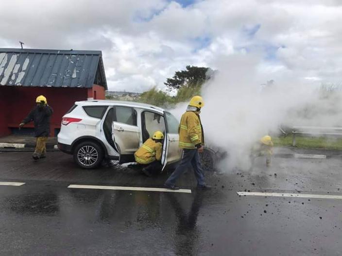 Incendie à Camp-Fouquereaux : Une voiture a pris feu