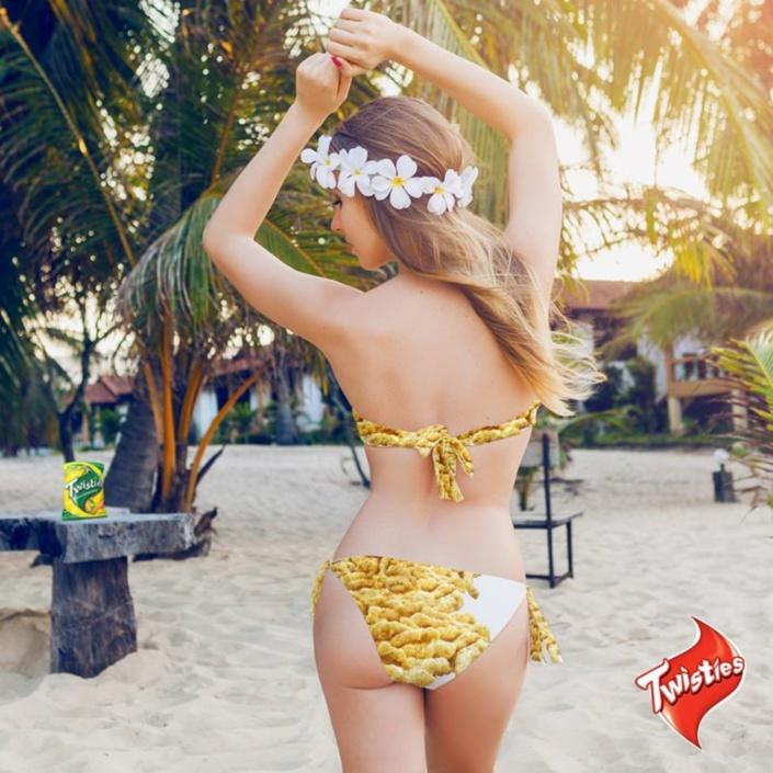 Une campagne publicitaire de Twisties fait la polémique