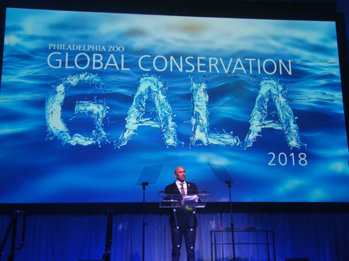 The Mauritian Wildlife Foudation reçoit un prix lors de la Philadelphia Zoo's 9th Annual Global Conservation Gala
