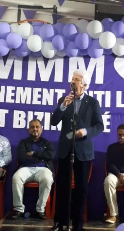 Paul Bérenger à Tranquebar était en échauffement avant la rentrée parlementaire