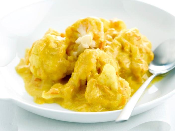 La recette de Pilon Pilé : le Curry de Chou Fleur au Lait de Coco