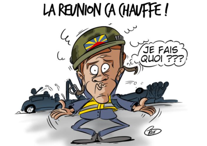 [KOK] Le dessin du jour : Le Préfet de la Réunion Amaury de Saint-Quentin en pleine action !