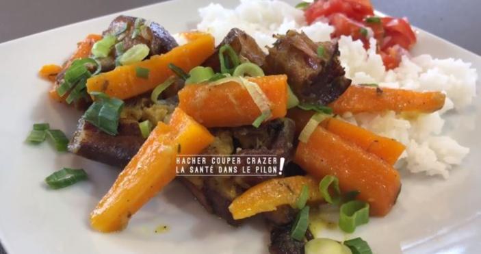 """[Vidéo] La recette de Pilon Pilé : Le boucané carotte dit """"boucané Tante Jane"""""""