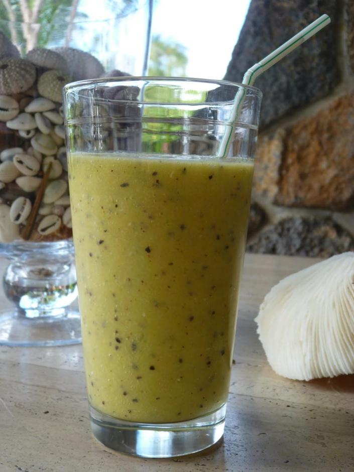 La recette d'Emmanuelle : Smoothie Banane Kiwi Passion