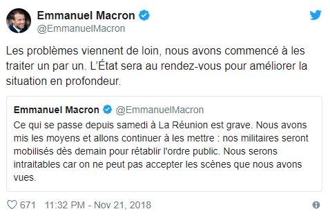 """[Dossier] Ile de la Réunion : Macron promet une réponse """"intraitable"""" aux violences"""