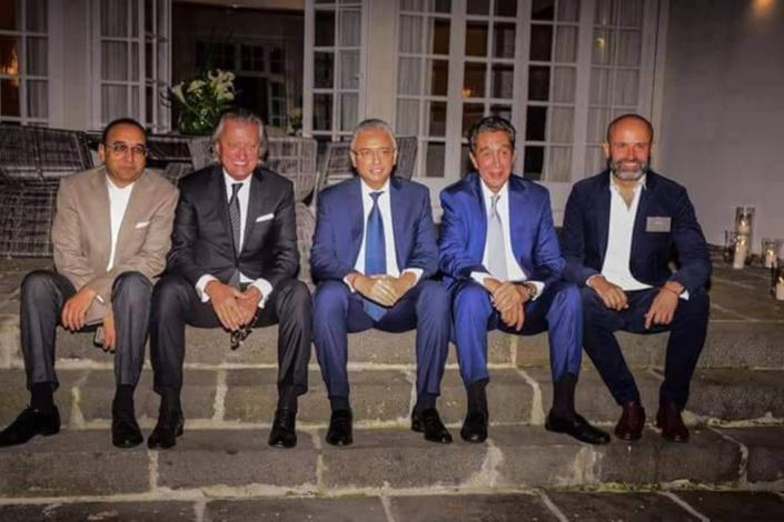 Lors de l'inauguration de la Warwyck Bank dont Saleem Beebeejaun est le Président.