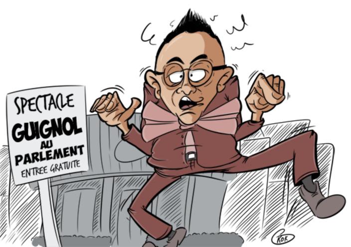 [KOK] Le dessin du jour : Un Guignol au Parlement !
