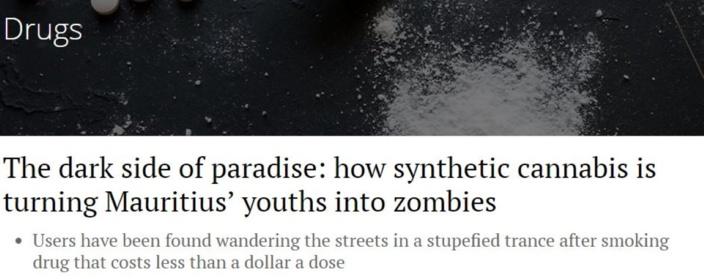 Le côté obscur du paradis : comment le cannabis synthétique transforme les jeunes mauriciens en zombie