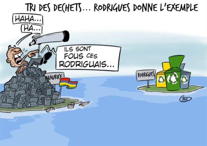 L'actualité vu par KOK : Tri des déchets...Rodrigues donne l'exemple