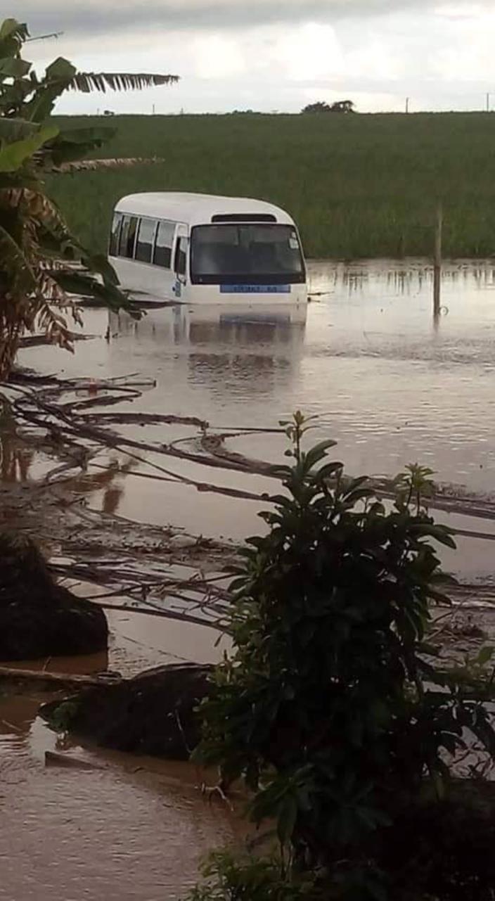 Inondation à Pamplemousses 10 décembre 2018.