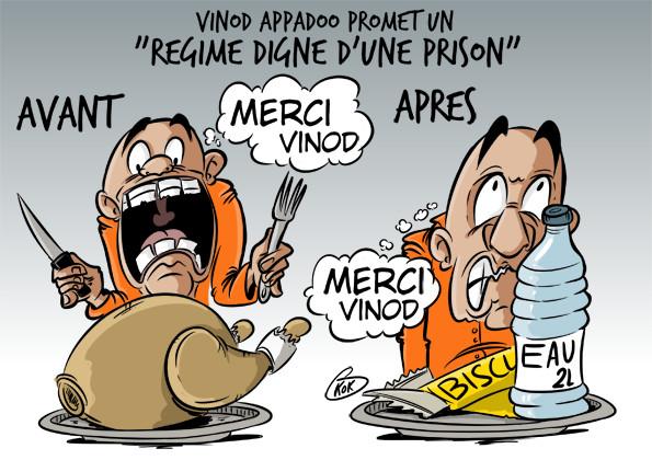 """[KOK] Le dessin du jour : """"Régime digne d'une prison"""""""