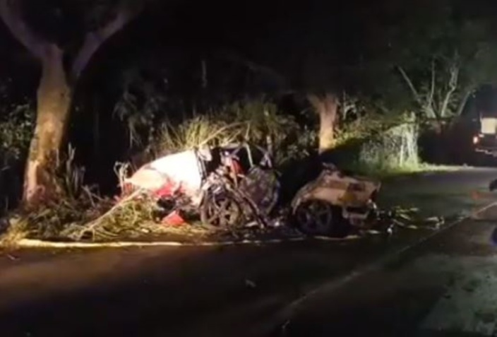 [Vidéo] Drame à Mapou : Les 4 victimes identifiées dans l'incendie d'une voiture