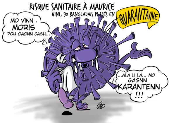L'actualité vu par KOK : H1N1, Risque sanitaire à Maurice