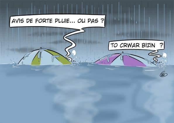 [KOK] Le dessin du jour : Avis de fortes pluies ou pas ?