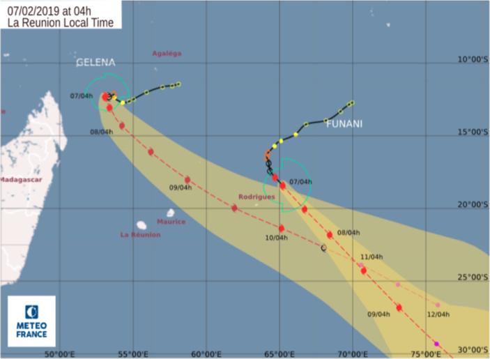 Rodrigues : Funani passera à son point le plus près ce matin, l'alerte 2 maintenue,