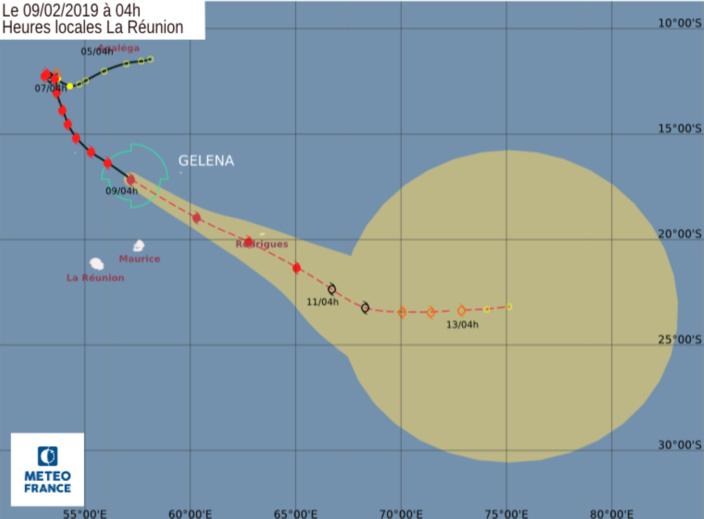 Le cyclone GELENA est à 330 km au Nord de Maurice