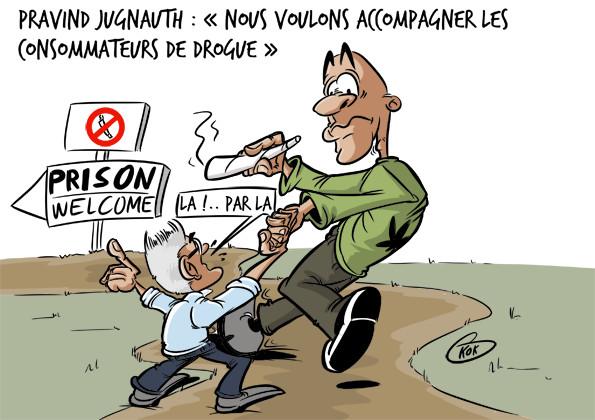 """[KOK] Le dessin du jour : """"Nous voulons accompagner les consommateurs de drogue"""""""