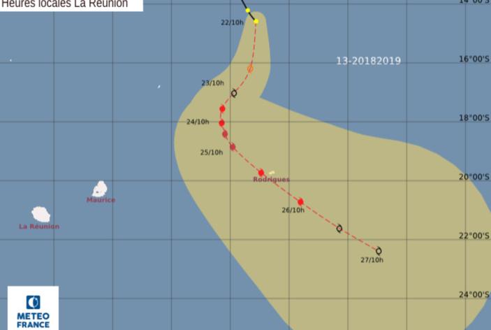 La tempête tropicale modérée baptisée Joaninha