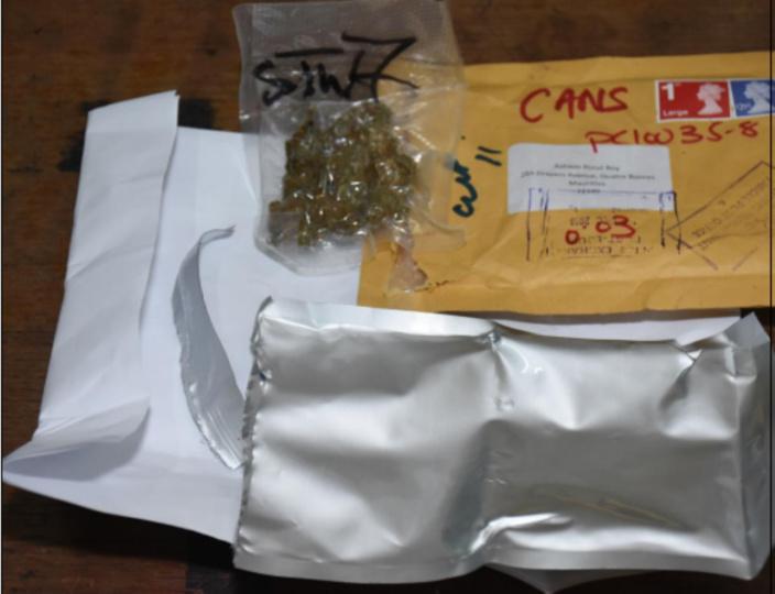 Encore de la drogue envoyée via la poste