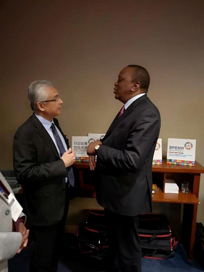 Le président du Kenya en visite officielle à Maurice, pas de séance parlementaire ce mardi