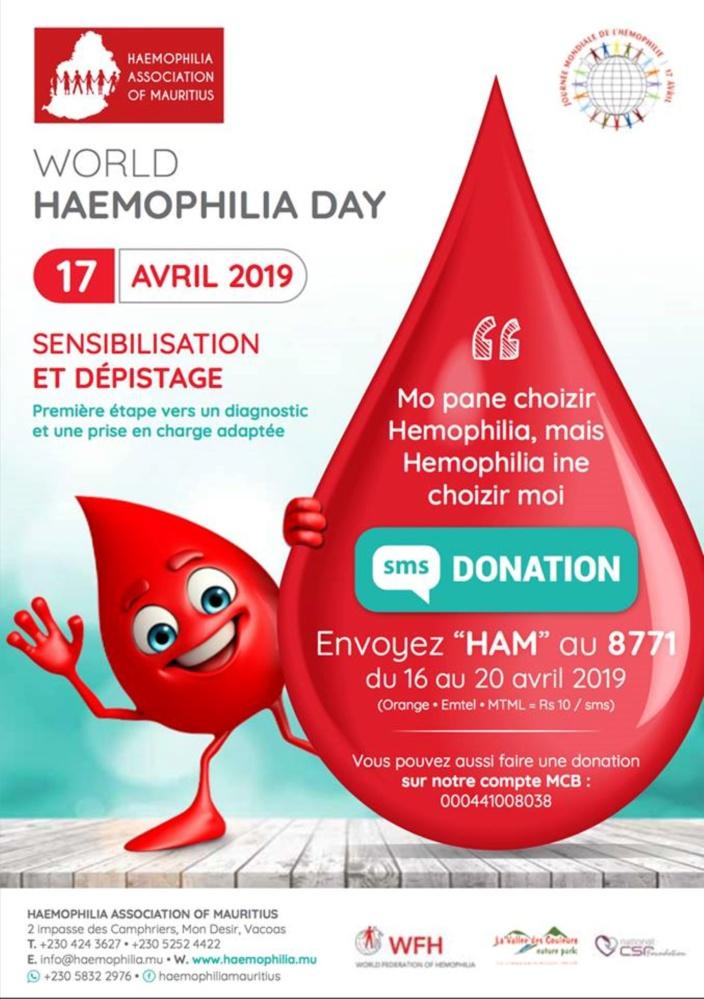 Haemophilia Association of Mauritius a besoin de vous