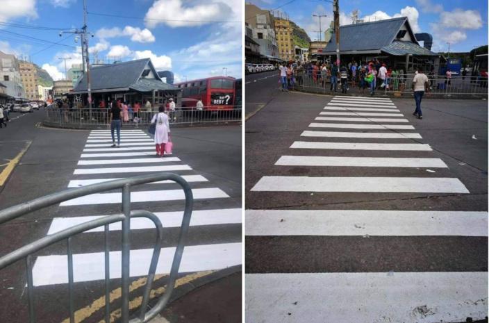 Gare routière de Port-Louis, le passage piéton de nouveau accessible