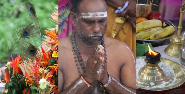 Maurice: Cavadee au Bala Siva Soopramanien Kovil à Queen Victoria